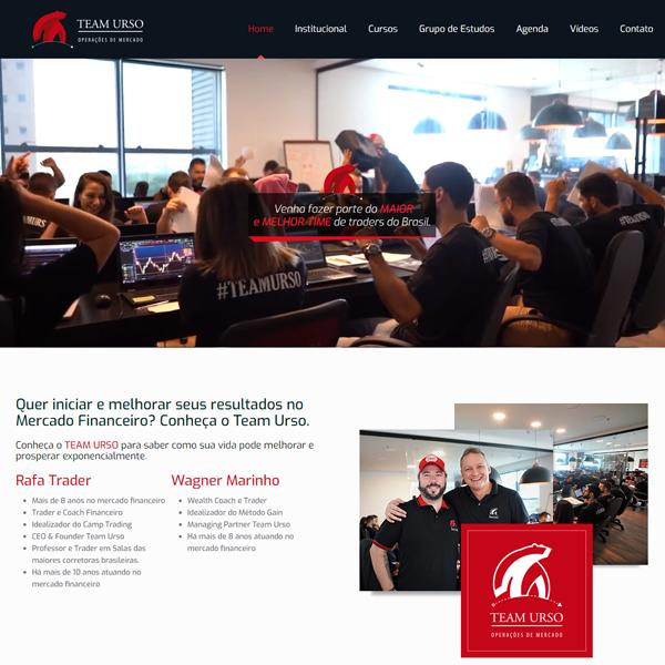 Team Urso - Criação de Site