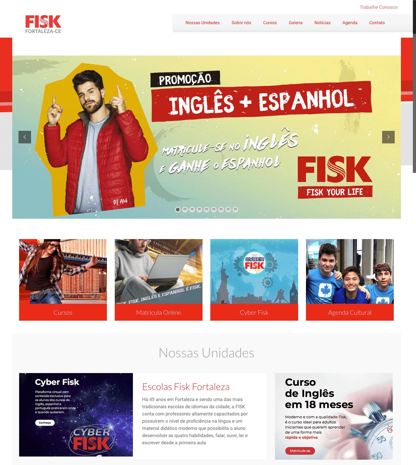 FISK Fortaleza - Criação de Site