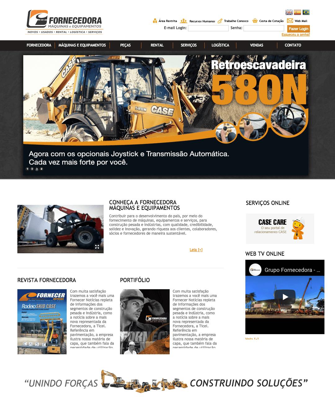 Fornecedora Máquinas - Criação de Site