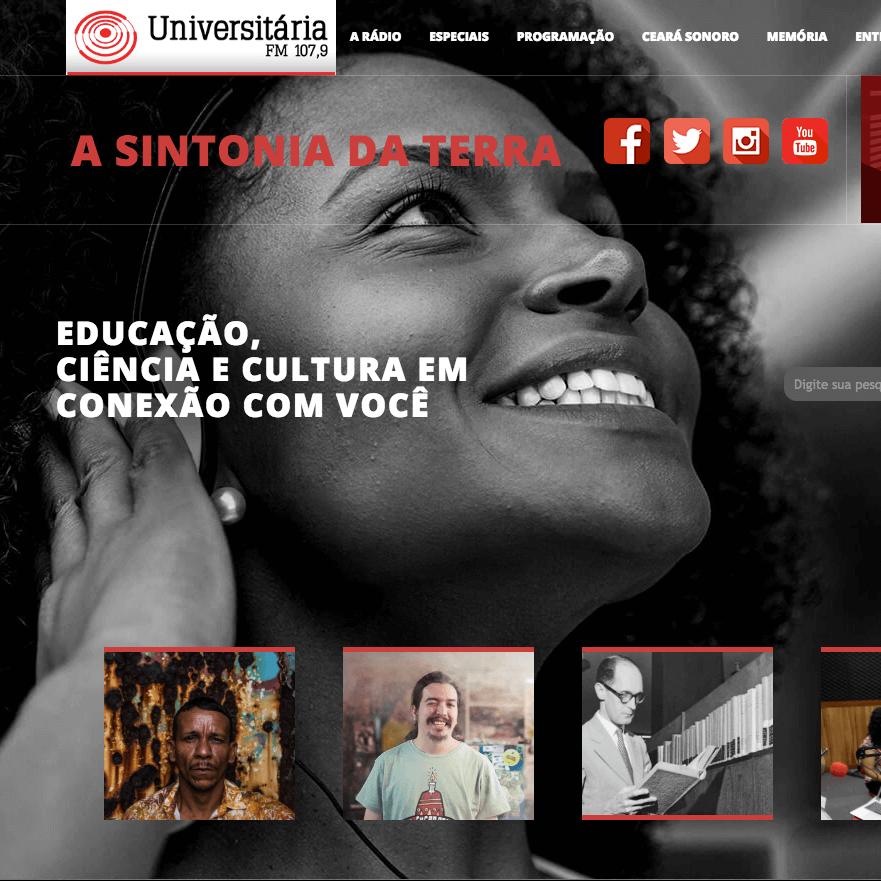 Rádio Universitária - Criação de Site
