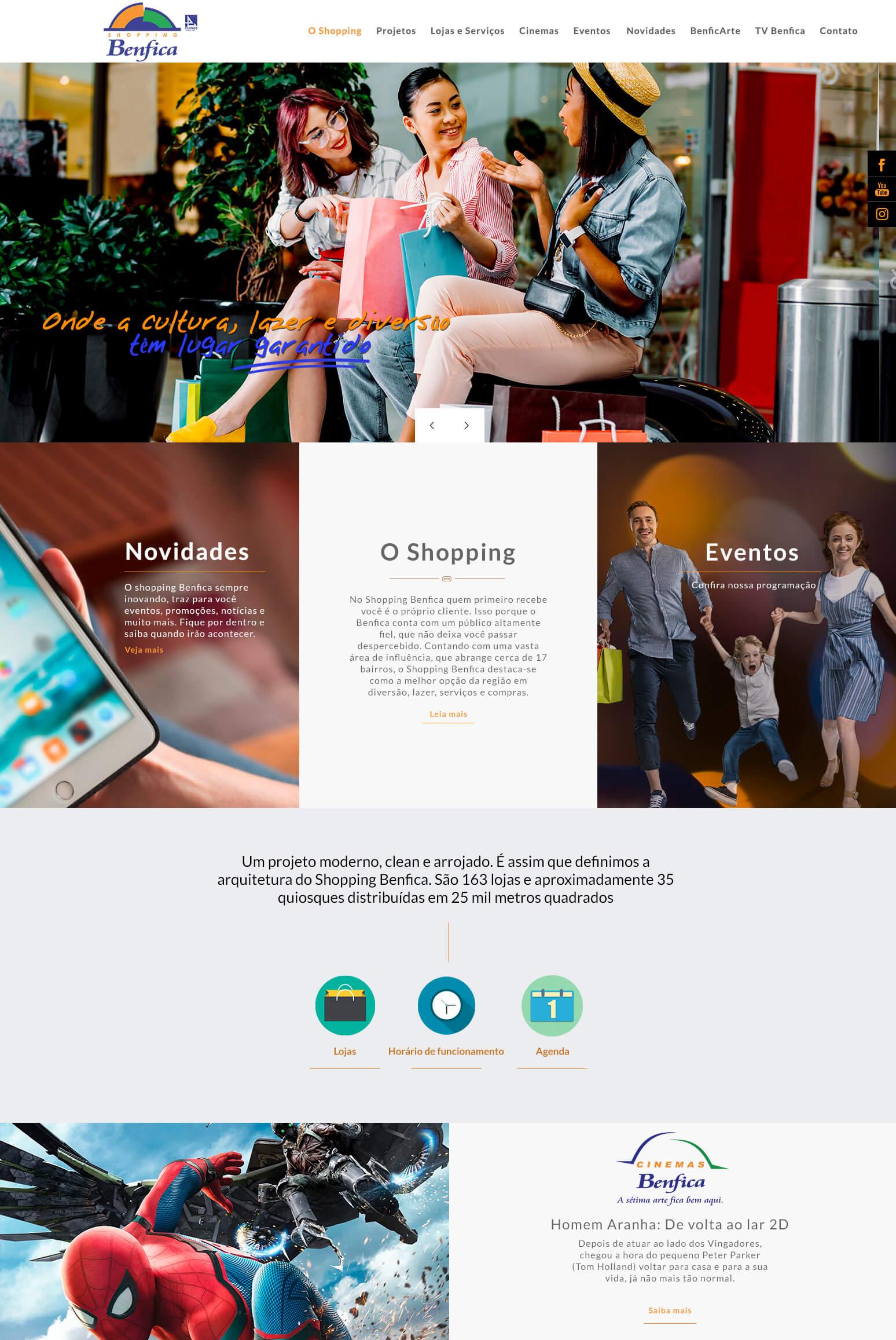 Shopping Benfica - Criação de Site
