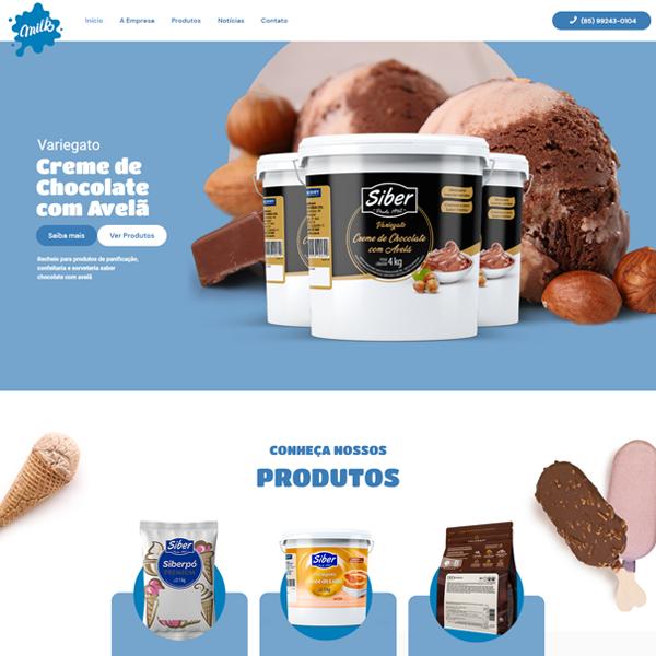 Milk Distribuidora - Criação de Site