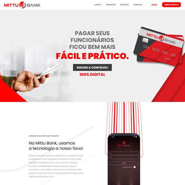 Mittu Bank- Criação de Site