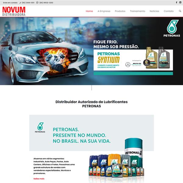 Novum Distribuidora - Criação de Site