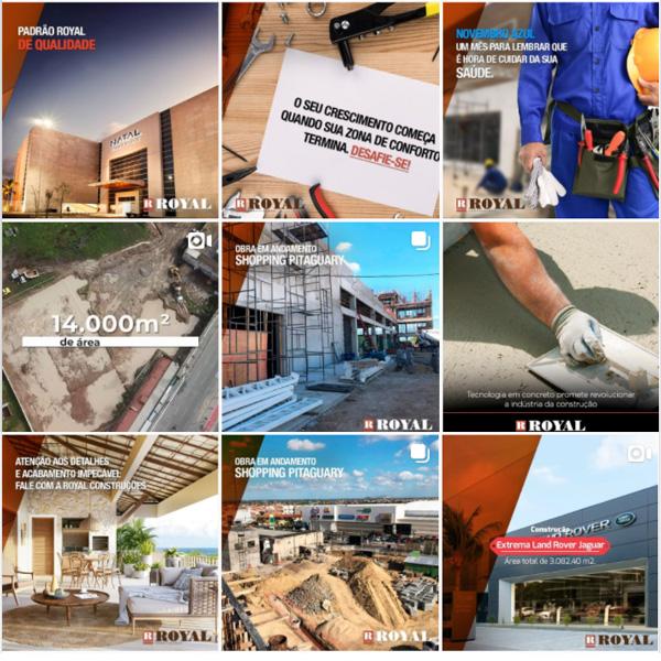 Royal Construções - Gestão de Redes Sociais e Anúncios Digitais